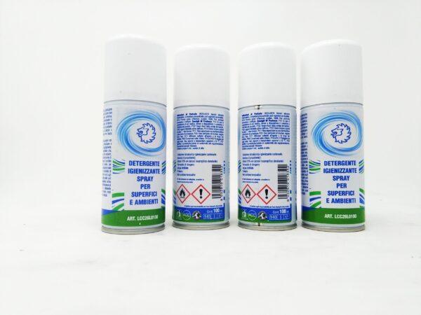 DETERGENTE IGIENIZZANTE PER SUPERFICI E AMBIENTI 100 ml X4